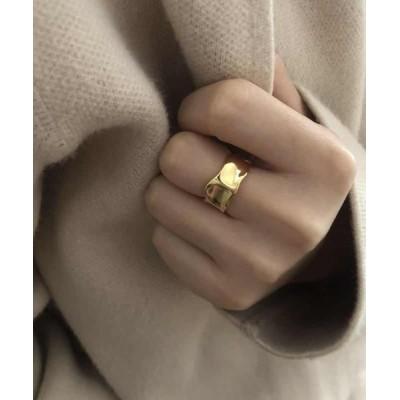 指輪 LUON/平ウェーブメタルリング