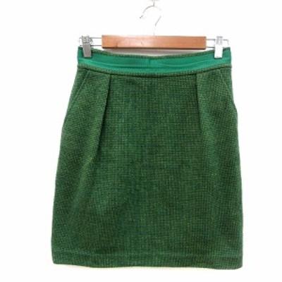 【中古】デイシー deicy タイトスカート ニット ミニ 1 緑 グリーン /MN レディース