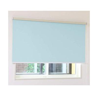 ロールスクリーン アゲインスト(ブルー)幅45×丈150cm 1本 (防音 断熱 遮光1級)
