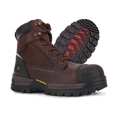 ROCKROOSTER ワークブーツ メンズ 複合つま先防水安全作業靴 US サイズ: 7 XWide