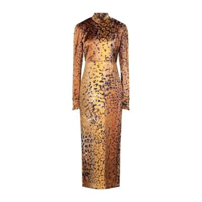 KITAGI® ロングワンピース&ドレス キャメル 42 シルク 95% / ポリウレタン 5% ロングワンピース&ドレス