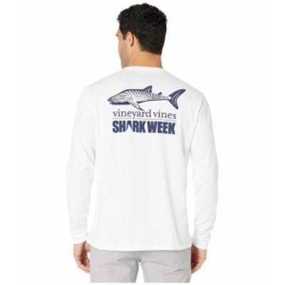 Vineyard Vines ヴィニヤードヴァインズ 服 一般 Long Sleeve Shark Week Whale Shark Pocket Tee