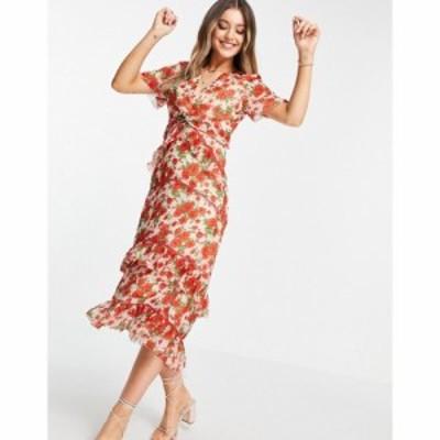 ホープ&アイビー Hope and Ivy レディース ワンピース Aライン ワンピース・ドレス Made with Liberty Fabric tiered frill midi dress