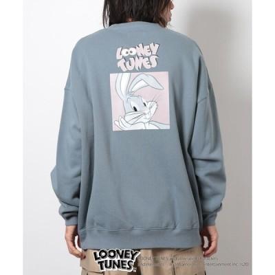 スウェット WEB限定 LOONEY TUNES×FREAK'S STORE/ルーニー・テューンズ 別注 バックプリント クルーネック スウェット/バ