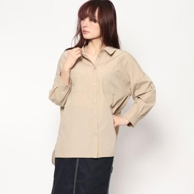 ファクターイコール Factor= コットンビックシャツ (BEG)