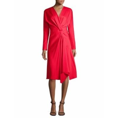 ビクトリアベッカム レディース ワンピース Long-Sleeve Wrap Dress