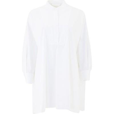 クロエ Chloe レディース ブラウス・シャツ トップス Poplin Collarless Shirt White