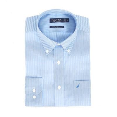 ドレスシャツ ノーティカ Nautica スリム Fit Wrinkle Resistant Striped Shirt