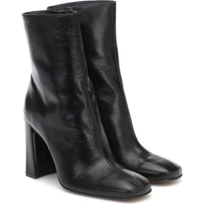 バイ ファー By Far レディース ブーツ ショートブーツ シューズ・靴 elliot embossed leather ankle boots Black