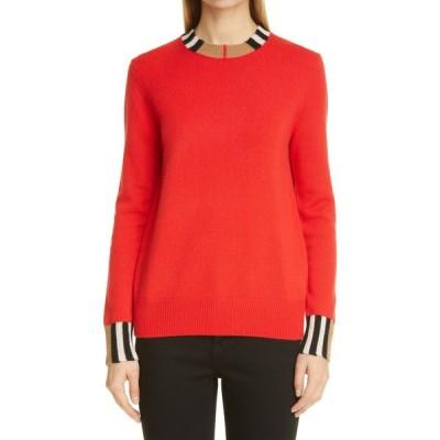 バーバリー BURBERRY レディース ニット・セーター トップス Eyre Cashmere Sweater Bright Red