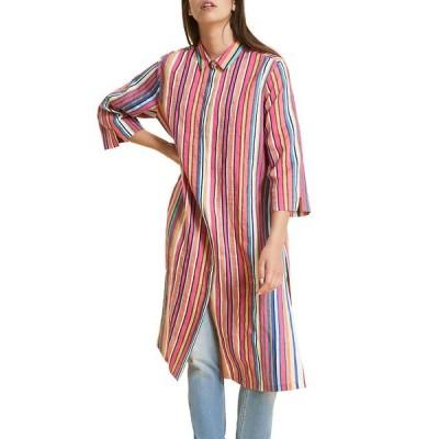 マリナリナルディ レディース ワンピース トップス Plus Size Diabase Striped 3/4-Sleeve Shirtdress