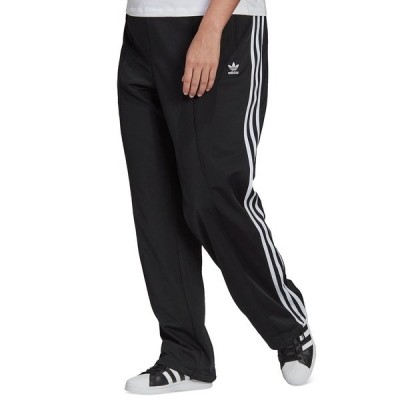 アディダス カジュアルパンツ ボトムス レディース Plus Size Firebird Striped Track Pants Black