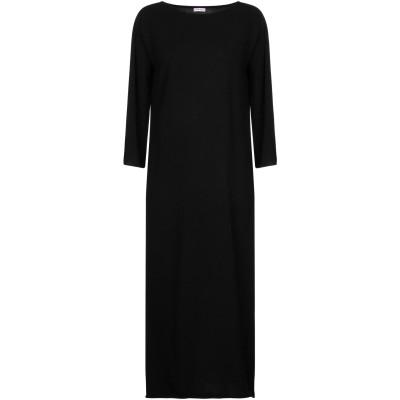 ROSSOPURO 7分丈ワンピース・ドレス ブラック L ウール 90% / カシミヤ 10% 7分丈ワンピース・ドレス