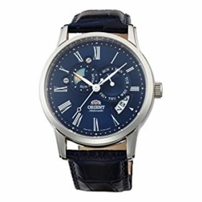 腕時計  Orient メンズ腕時計  サン&ムーンバージョン2 クラシック アナログ自動巻き ブルー FET0T004D0