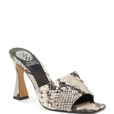 ヴィンスカムート レディース サンダル シューズ Reselm Open Toe Snake Print Quilted Leather Mules