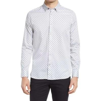 テッドベーカー TED BAKER LONDON メンズ シャツ トップス Icing Floral Print Button-Up Shirt White
