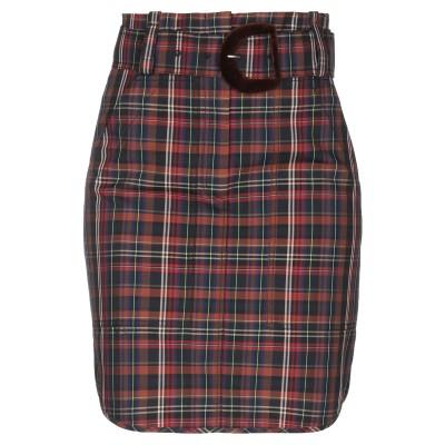 SANDRO ひざ丈スカート ブラウン 1 ポリエステル 62% / コットン 38% / アルミニウム ひざ丈スカート