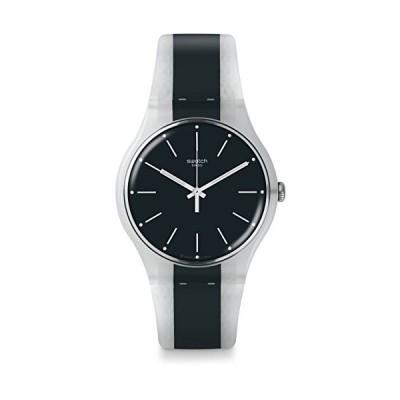 腕時計 スウォッチ メンズ SUOW142 Swatch Men's Greyline SUOW142 Blue Rubber Swiss Quartz Fashion Wat
