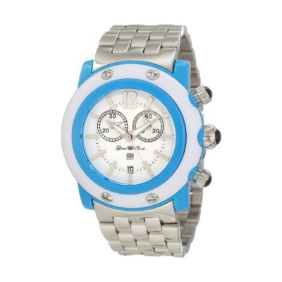 Glam Rock Women's GD1108-DC Miami Beach Chronograph White Dial Stainless Steel Watch【並行輸入品】
