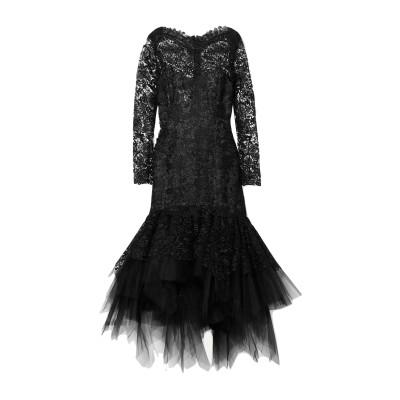 オスカー・デ・ラ・レンタ OSCAR DE LA RENTA ロングワンピース&ドレス ブラック 4 ポリエステル 100% ロングワンピース&ドレス