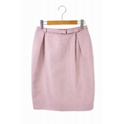 【中古】ヴィヴィアンウエストウッドレッドレーベル Vivienne Westwood RED LABEL スカート 40 ピンク ベージュ ■OS