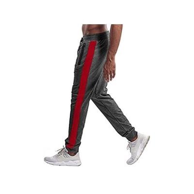 [新品]TBMPOY メンズ アスレチック ランニングパンツ ジョガー ワークアウト スウェットパンツ ジッパーポケット付き US サイズ: 38