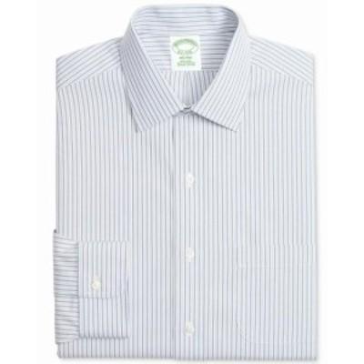 brooks ブルックス ファッション ドレス Brooks Brothers Mens Blue Size 15 1/2 Stripe Print Pocket Dress Shirt