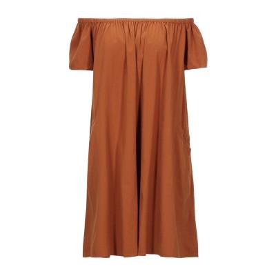 アメリカン ヴィンテージ AMERICAN VINTAGE ミニワンピース&ドレス ブラウン S コットン 100% ミニワンピース&ドレス
