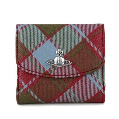 ヴィヴィアン ウエストウッド 2つ折り財布 SMALL WALLET 51150003 10256 O211 レッド系 マルチ/ワインレッド