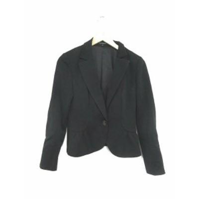 【中古】ロートレアモン LAUTREAMONT ジャケット テーラード 総裏地 2 黒 ブラック /YK26 レディース