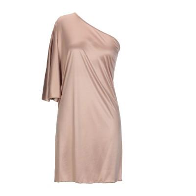 メルシー ..,MERCI ミニワンピース&ドレス ベージュ 40 アセテート 65% / ナイロン 35% ミニワンピース&ドレス