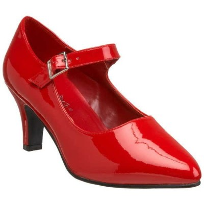 """ヒール パンプス シューズ 靴 プリーザー PLEASER レディース 3"""" Block ヒール D'orsay Mary Jane パンプス クラシック ドレス シューズ DIVINE-440 Red Pat"""