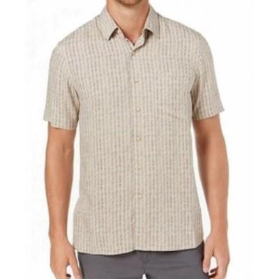 ファッション アウター Tasso Elba NEW Green Mens Size Large L Houndstile Button Up Silk Shirt