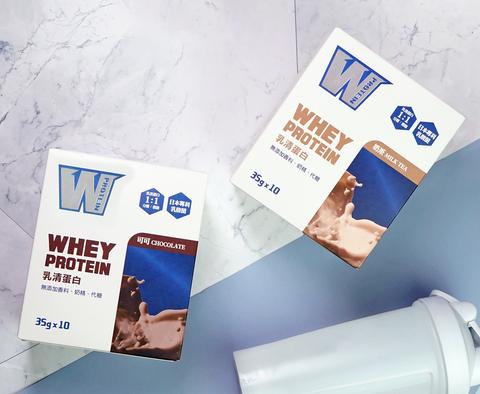 【義美生醫】W PROTEIN乳清蛋白飲-奶茶/可可 (35g*10包/盒)