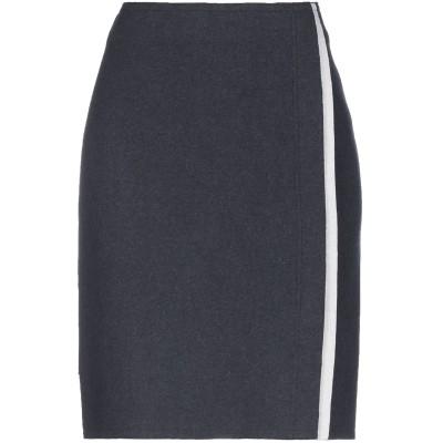 LORENA ANTONIAZZI ひざ丈スカート スチールグレー 38 バージンウール 84% / カシミヤ 9% / ナイロン 5% / ポリウ