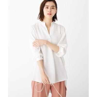 OPAQUE.CLIP / ドレープジョーゼット ロングスキッパーシャツ【WEB限定カラー・サイズ】 WOMEN トップス > シャツ/ブラウス