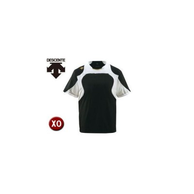 DESCENTE/デサント  DB115-BKSG ベースボールシャツ 【XO】 (ブラック×Sホワイト×Sゴールド)