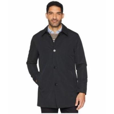 コールハーン メンズ コート アウター City Rain Button Front Carcoat with Detachable Liner Black