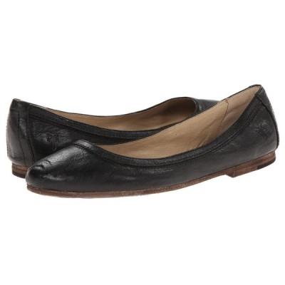 フライ Frye レディース スリッポン・フラット シューズ・靴 Carson Ballet Black Antique Soft Vintage