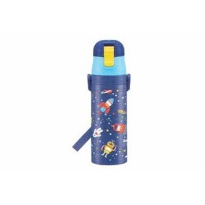 【オリジナル】ロック付ワンプッシュダイレクトステンレスボトル【コスミックスター】【ロケット】【乗り物】【ボトル】【水筒】【給水】