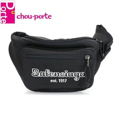 バレンシアガ (BALENCIAGA) ベルトバッグ ボディ エクスプローラー ロゴ刺繍 ベルトパック ブラック 黒 ナイロン 482389 メンズ 未使用品