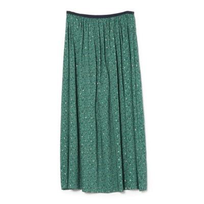 【シップス/SHIPS】 ラメプリントギャザースカート