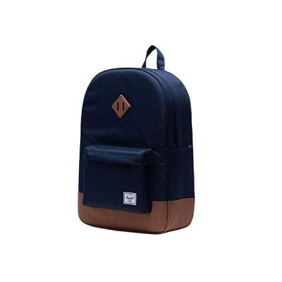 Herschel Heritage Backpack, Peacoat/Saddle Brown, Classic 21.5L【並行輸入品】