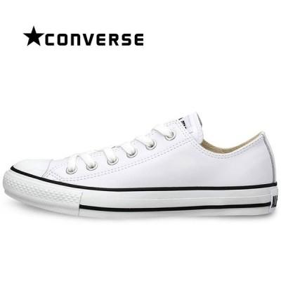 コンバース  レザー オールスター OX スニーカー CONVERSEメンズ レディース シューズ ローカット 定番 靴 白 ホワイト LEATHER ALL STAR