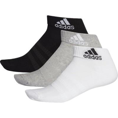 adidas アディダス CUSHION ANKLE 3P SOCKS FXI63 Mグレイヘザー/WH