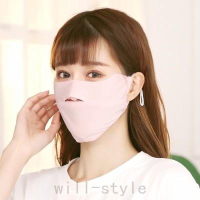 マスク 綿 シフォン 純色 開口設計 二層構造 大人用 男女兼用 夏用 薄い 折りたたみ式 立体 繰り返し利用可能 スモッグを防ぐ 飛沫を防ぐ 3枚入