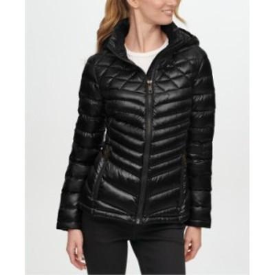 カルバンクライン レディース コート アウター Shine Hooded Packable Down Puffer Coat Black