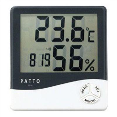 カクセー KAKUSEE PATTO(パット) スクエア温湿度計 PT-02 日用品・生活雑貨