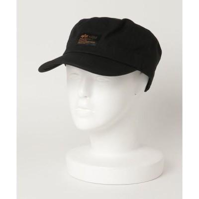 帽子 キャップ 【ALPHA INDUSTRIES/アルファインダストリーズ】フロントワンポイントブランドロゴ リップワークキャップ