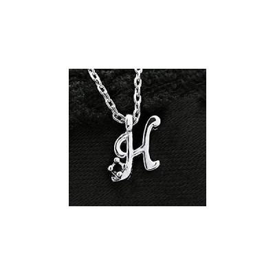 One&Only Jewellery 鑑別書付 0.01ct 天然 ブラックダイヤモンド イニシャル ネックレス ペンダント K18GP (